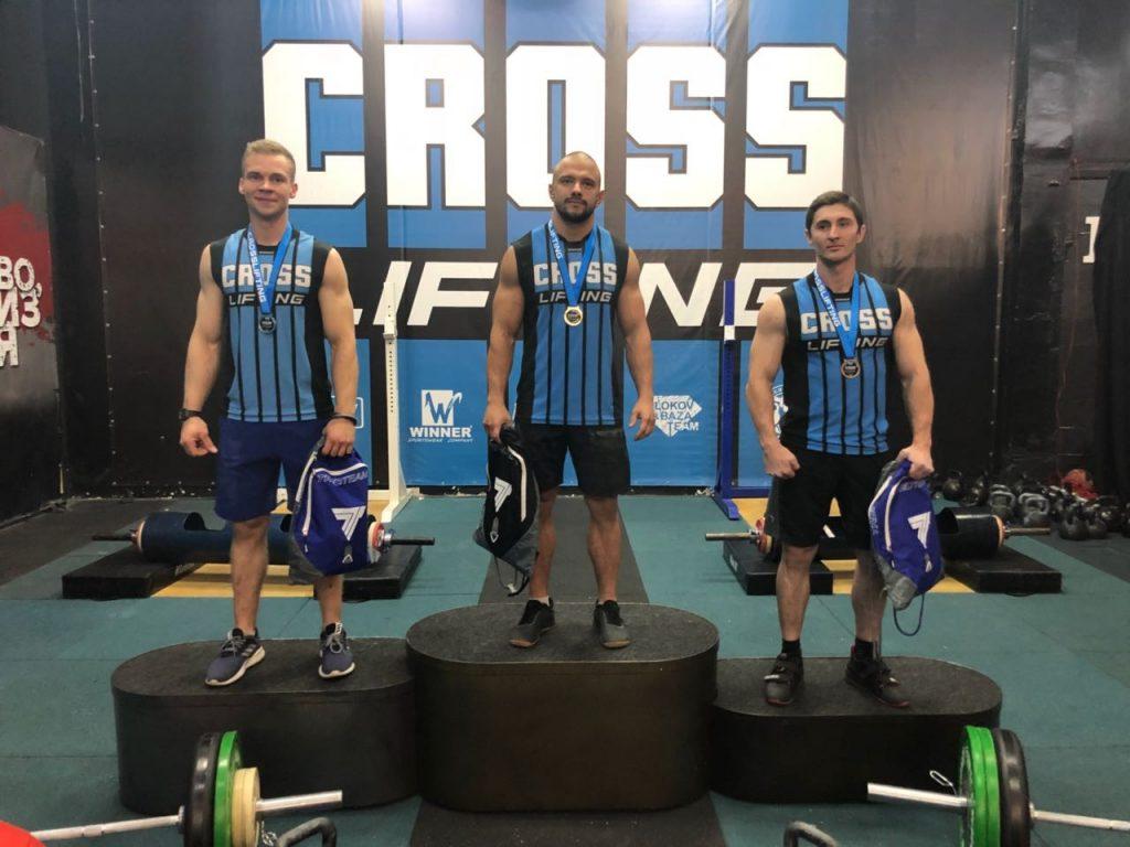 Призеры мужчины категории 80kg-cup-central-region-of-crosslifting-2018