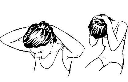 Наклоны головы вперед и вбок для правильной растяжки шеи