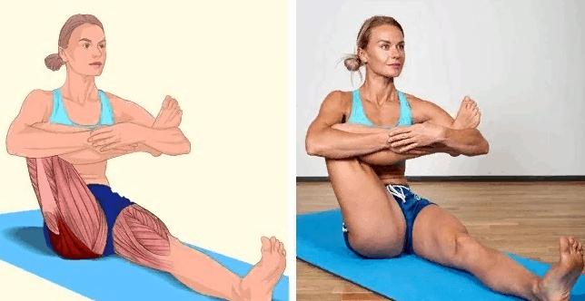 Растяжка для ягодичных мышц сидя