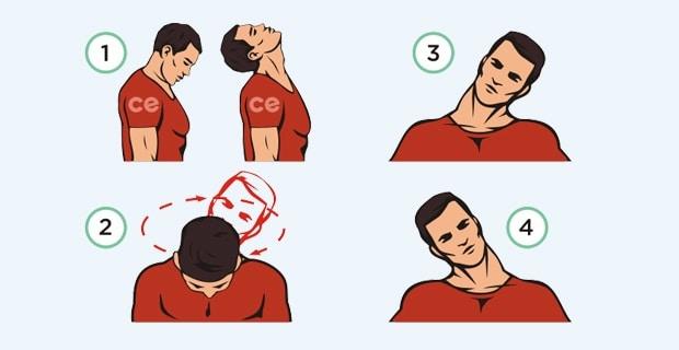 Упражнения для разминки шеи