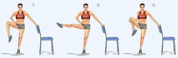 Отведение колена в сторону и притягивание к туловищу