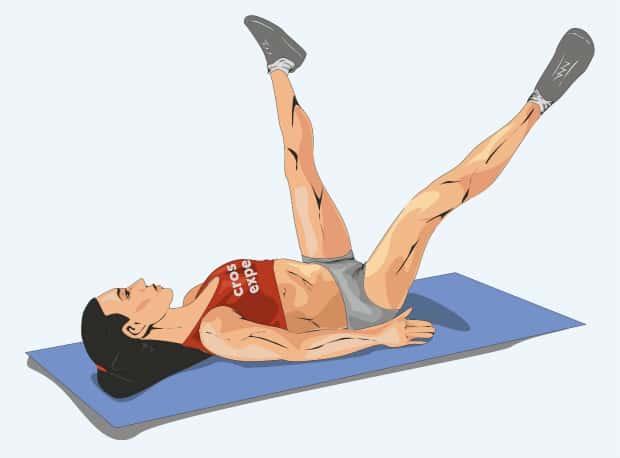Разведение ног лежа на спине
