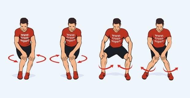 Разминка коленного сустава