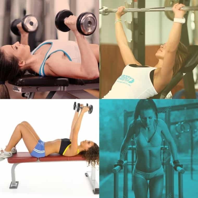 упражнения на грудные мышцы для девушек