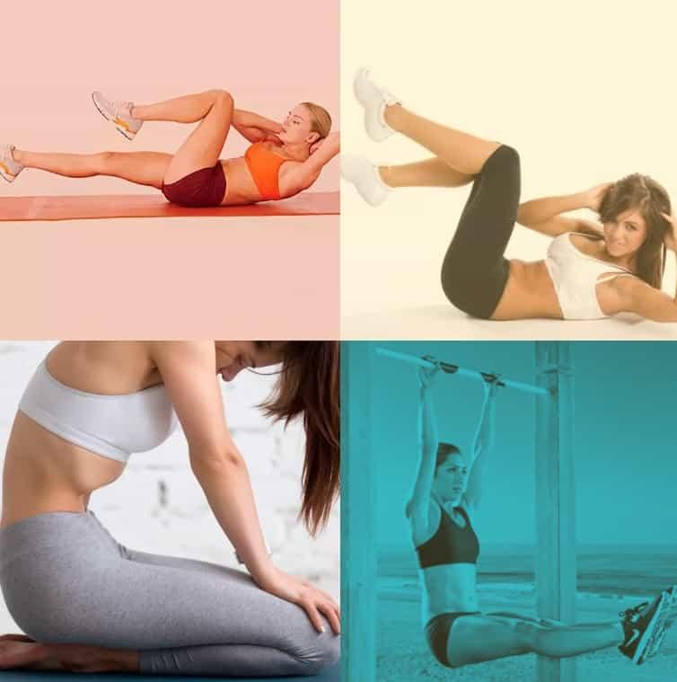 упражнения на пресс для девушек