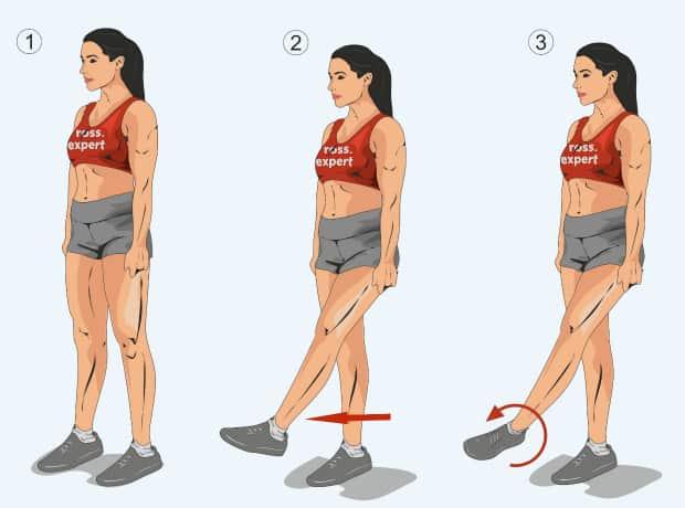 Вращение в голеностопном суставе стоя