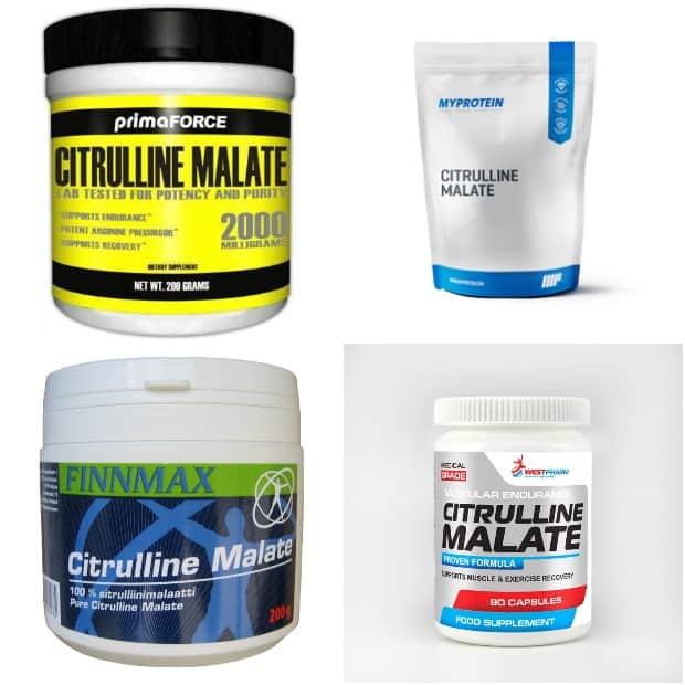 Цитруллин малат разных производителей