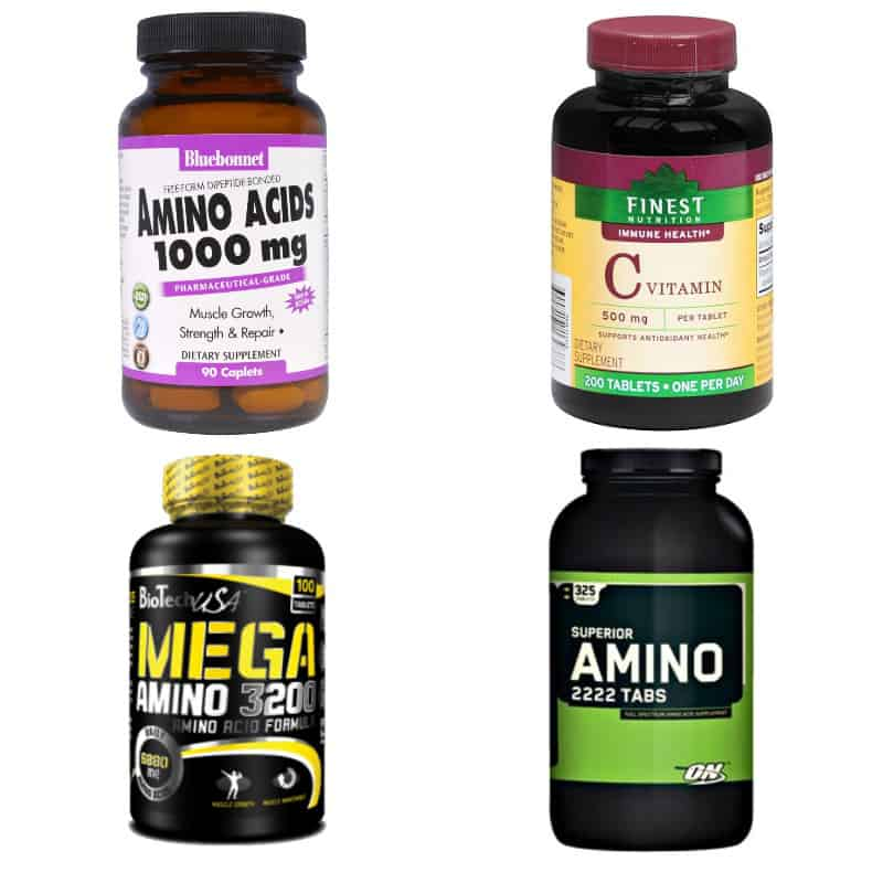 Добавки с аминоксилотами витамином C
