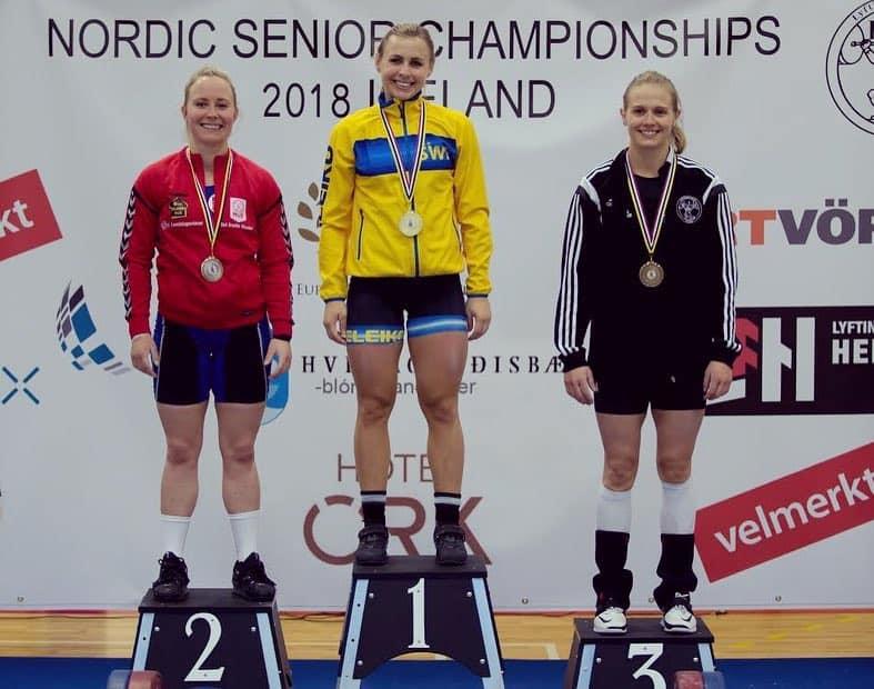 Тури Хельгадоттир стала бронзовым призером Nordic Weightlifting Championships 2018