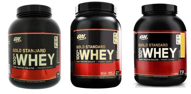 Gold Standard Whey с разными вкусами