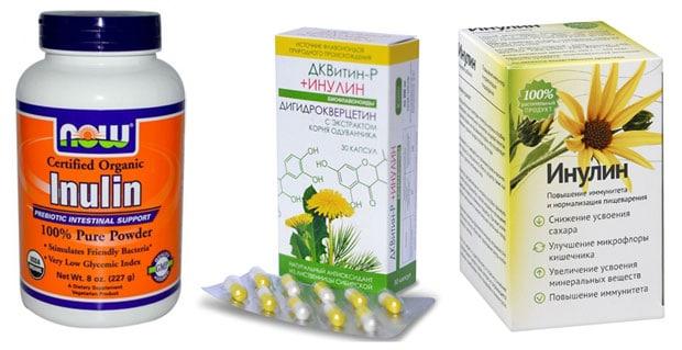 Препараты с инулином