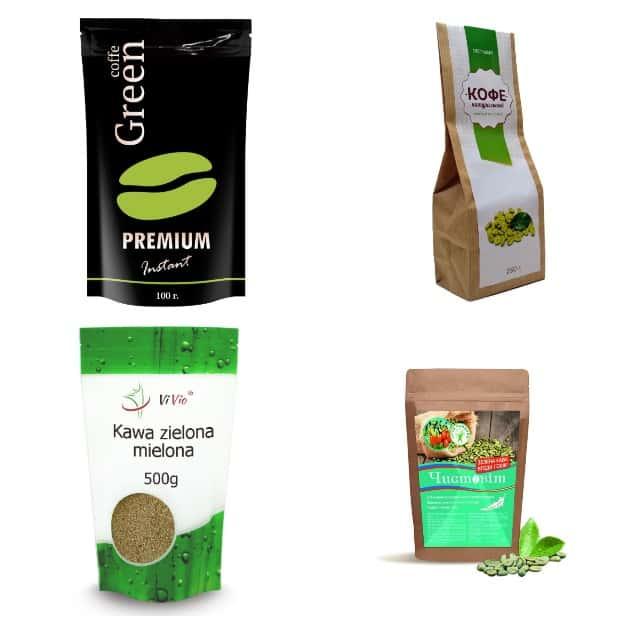 Пакетированный зеленый кофе