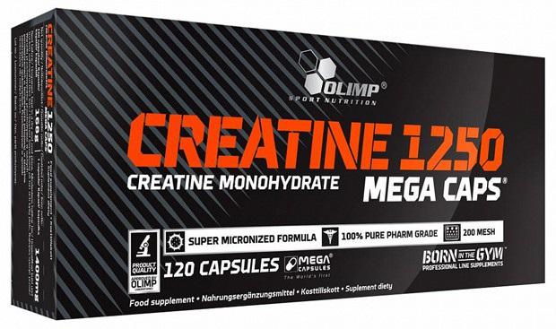 Упаковка Creatine 1250 Mega Caps 120 штук
