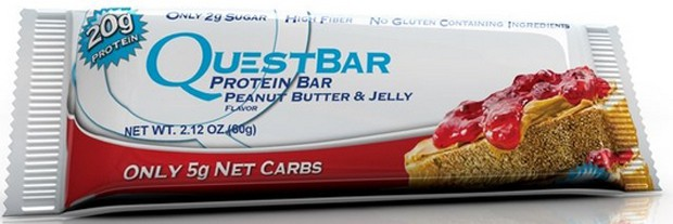 Questbar со вкусом арахиса и желе