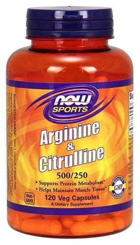 L-аргинин, L-цитруллин 500/250 – 120 капсул