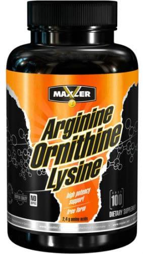 Баночка Maxler Arginine Ornithine Lysine