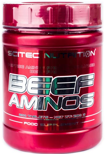 Упаковка beef aminos 200 таблеток