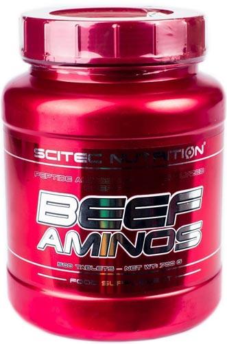 Упаковка beef aminos 500 таблеток