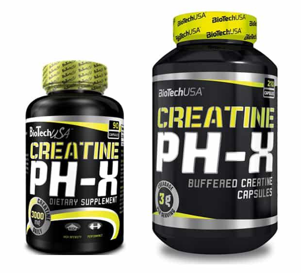 Упаковки креатина pH-X от BioTech