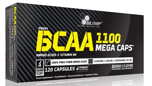 120 капсул BCAA Olimp Mega Caps