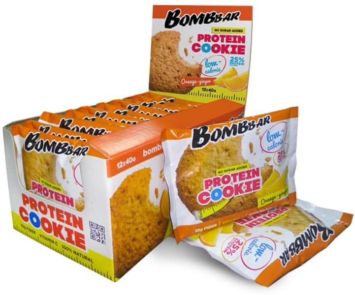 Бомббар печенье со вкусом апельсина и имбиря