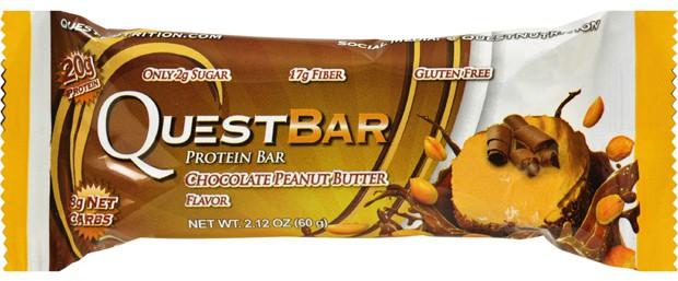 Questbar со вкусом шоколада и арахиса