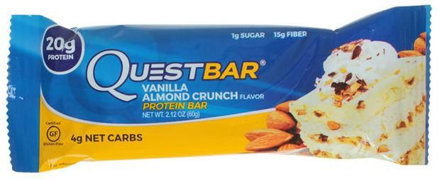 Questbar со вкусом ванили и миндаля