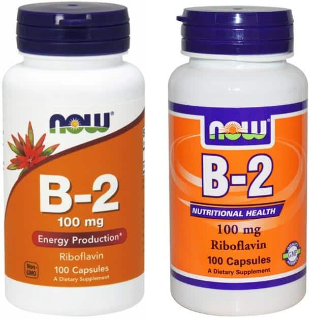 Разные баночки с витамином Б2