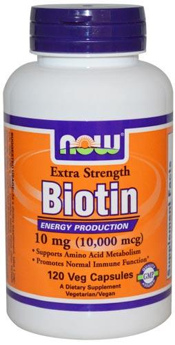 Добавка с Биотином 10000 мкг 120 капсул