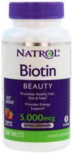 БАД от natrol для красоты с биотином 250 таблеток