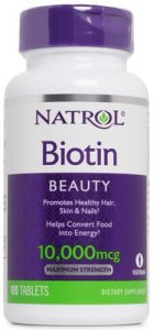 БАД от natrol для красоты с биотином