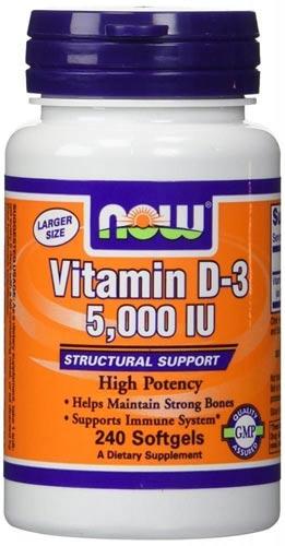 Витамин Д3 в форме капсул 240 штук 5000 МЕ