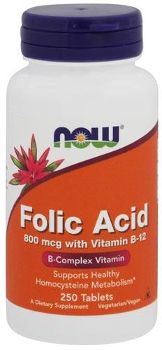 250 таблеток добавки Фолиевая кислота от НАУ