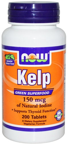 Добавка kelp now в упаковке 200 таблеток
