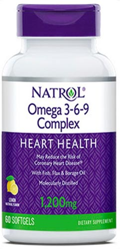 Добавка natrol omega 3-6-9 в виде капсул 60 штук