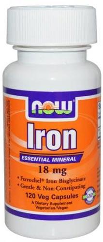 120 капсул БАД now iron