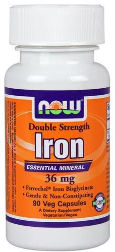 90 капсул БАД now iron