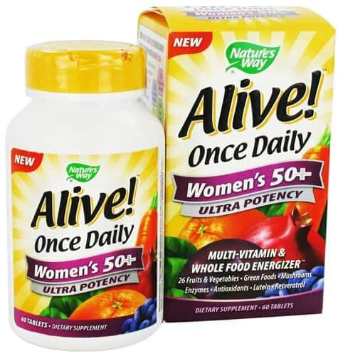 Добавка в упаковке 60 таблеток Alive Once Daily Women's 50+
