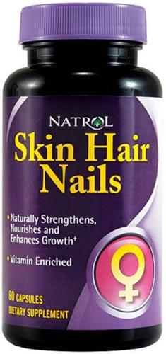 Добавка в виде капсул skin hair and nails