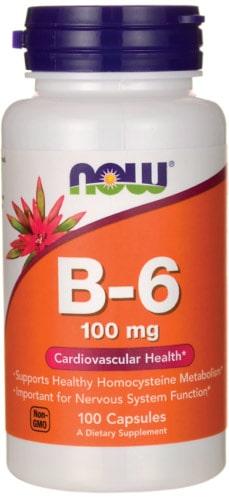 Витамин B6 от NOW в упаковке 100 капсул