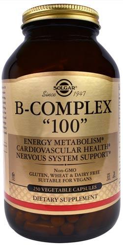 Упаковка из 250 капсул Solgar B-Complex 100
