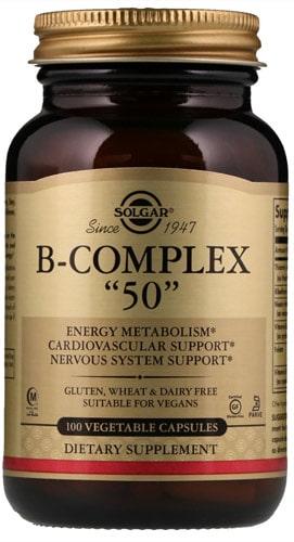 БАД от Солгар с витаминами Б 100 капсул