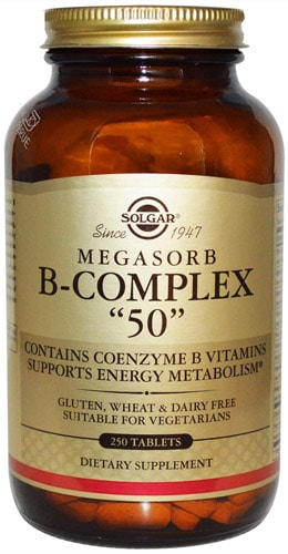 БАД от Солгар с витаминами Б 250 капсул