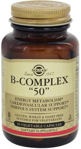 БАД от Солгар с витаминами Б 50 капсул