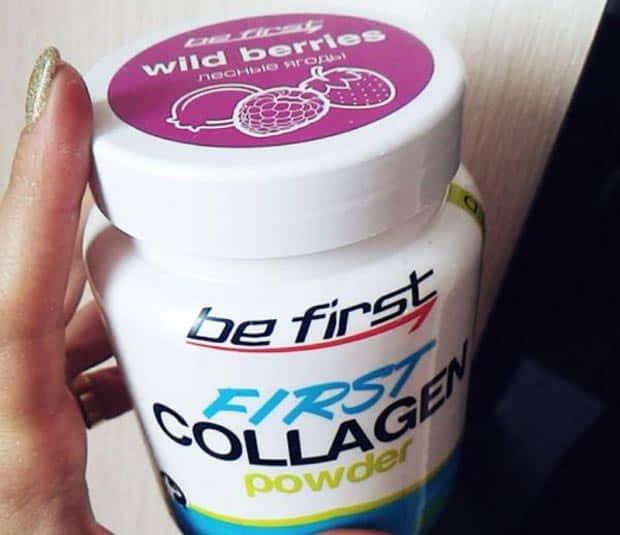 Добавка со вкусом be first collagen powder