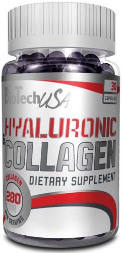 Добавка в упаковке из 30 капсул hyaluronic and collagen