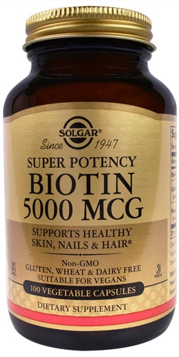 Solgar Биотин упаковка 100 капсул
