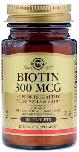Solgar Биотин упаковка 100 таблеток