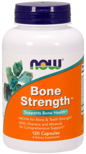 Упаковка NOW Bone Strength в 120 капсул