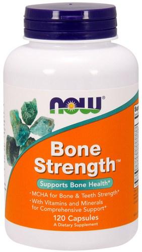 Упаковка NOW Bone Strength в 120 капсул